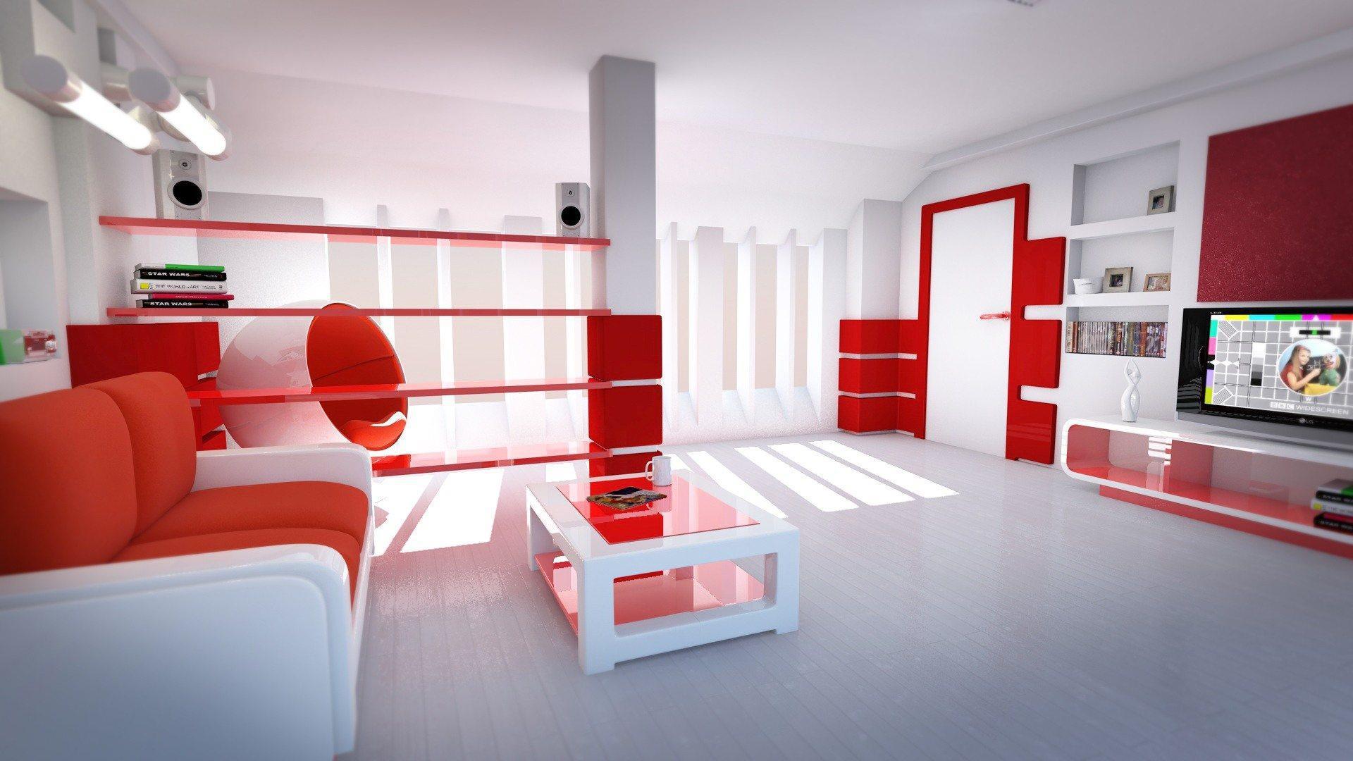 Shubham 3d Wallpaper インテリアデザイン((赤))のhdデスクトップの壁紙:ワイドスクリーン:高精細:フルスクリーン