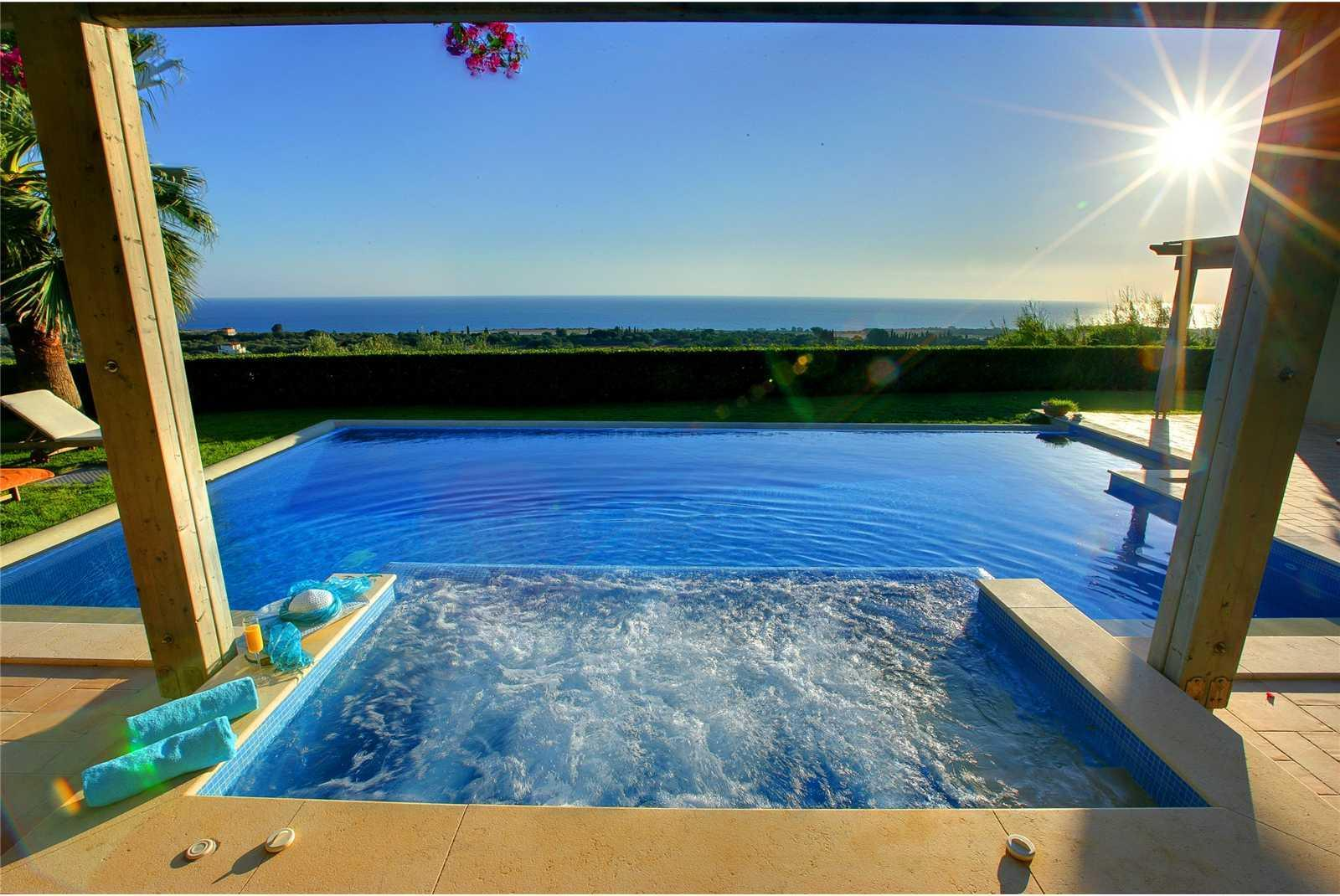 Jacuzzi Pool Villa Bandos Jacuzzi Villa With Sea View Hd Desktop Wallpaper
