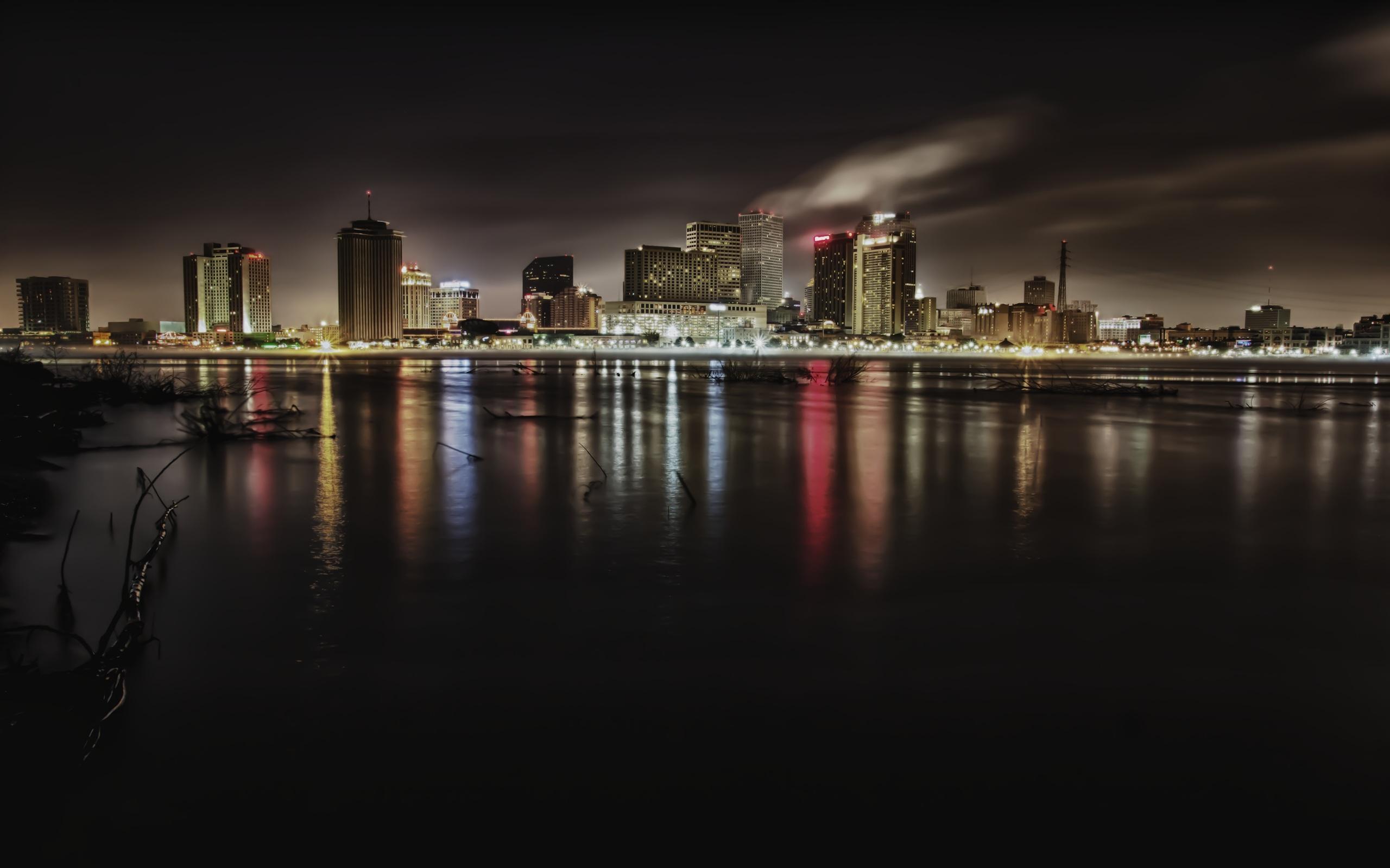 3d Moving Wallpapers City Lights Late Night Nola Skyline Hd Desktop Wallpaper Widescreen