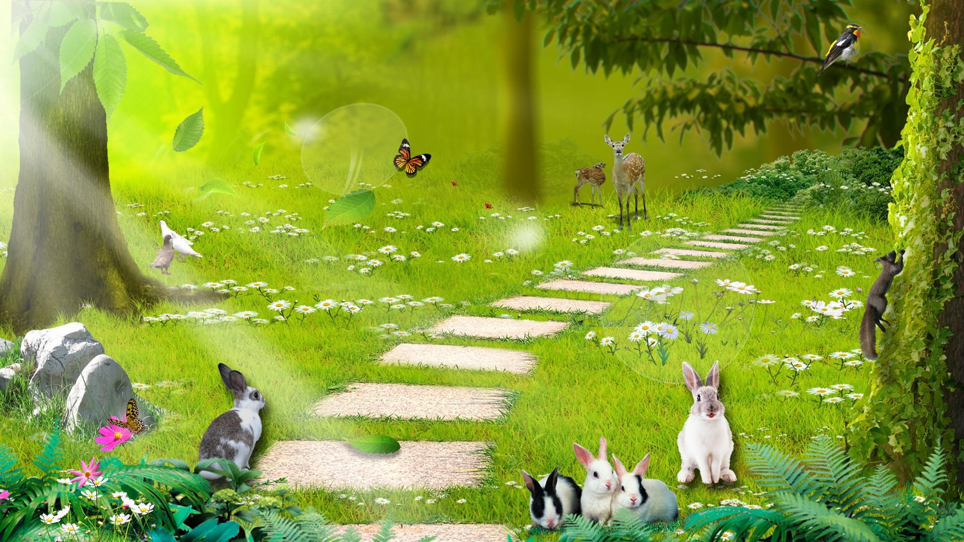 Disney Princess 3d Wallpaper Nuevo Fondo De Pantalla Hd Bosque Encantado Escritorio