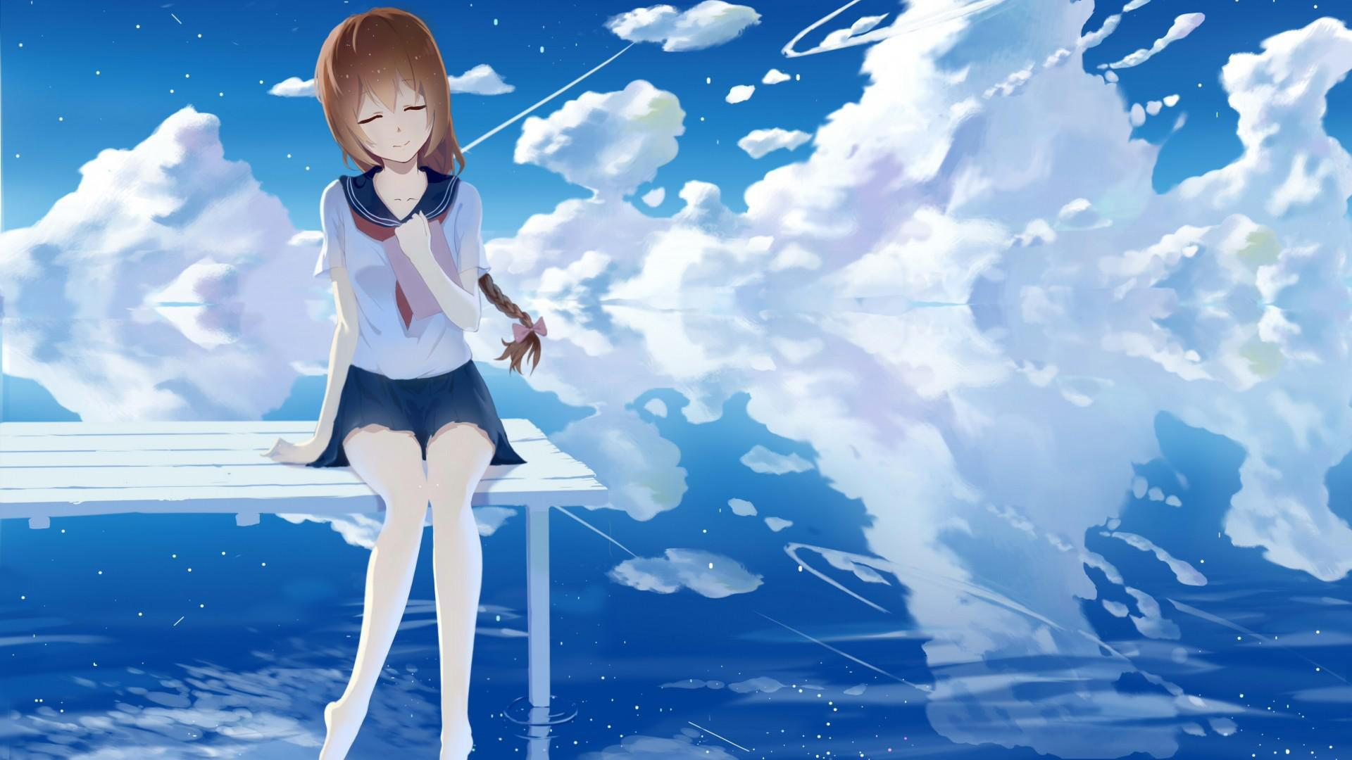 Sakura Falling Live Wallpaper Iphone Wallpaper Poetry And Dream Girl Good Looking Anime Hd