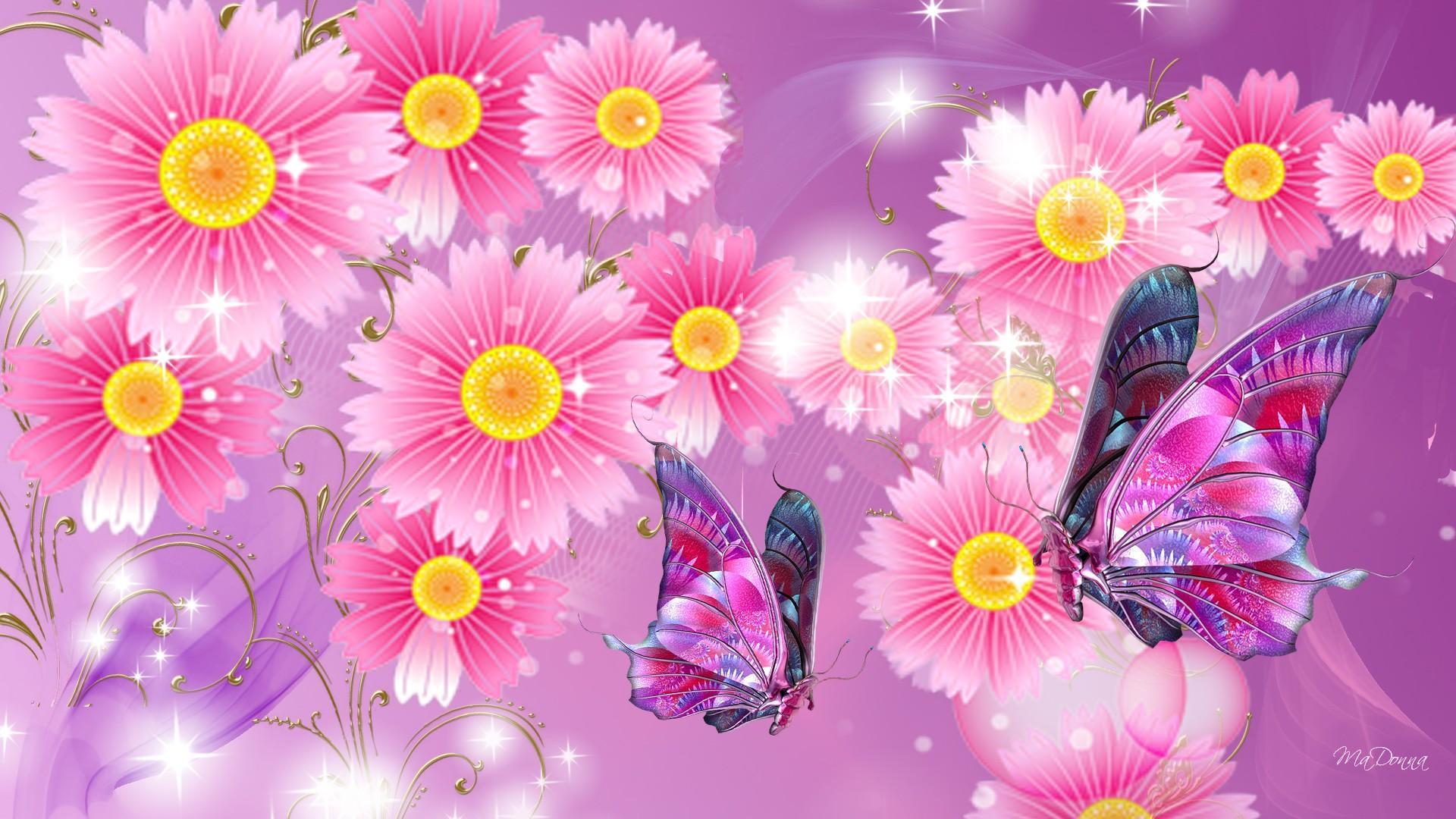Lion Live Wallpaper Iphone Brillare Di Fiori Rosa Carta Da Parati Desktop Hd
