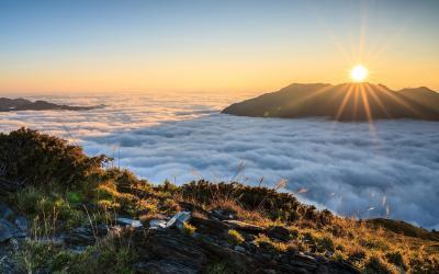nascer do sol acima do papel de parede nuvens hd: widescreen: alta definição: fullscreen