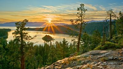 Sunrise Over Crater Lake HD desktop wallpaper : Widescreen : High Definition : Fullscreen