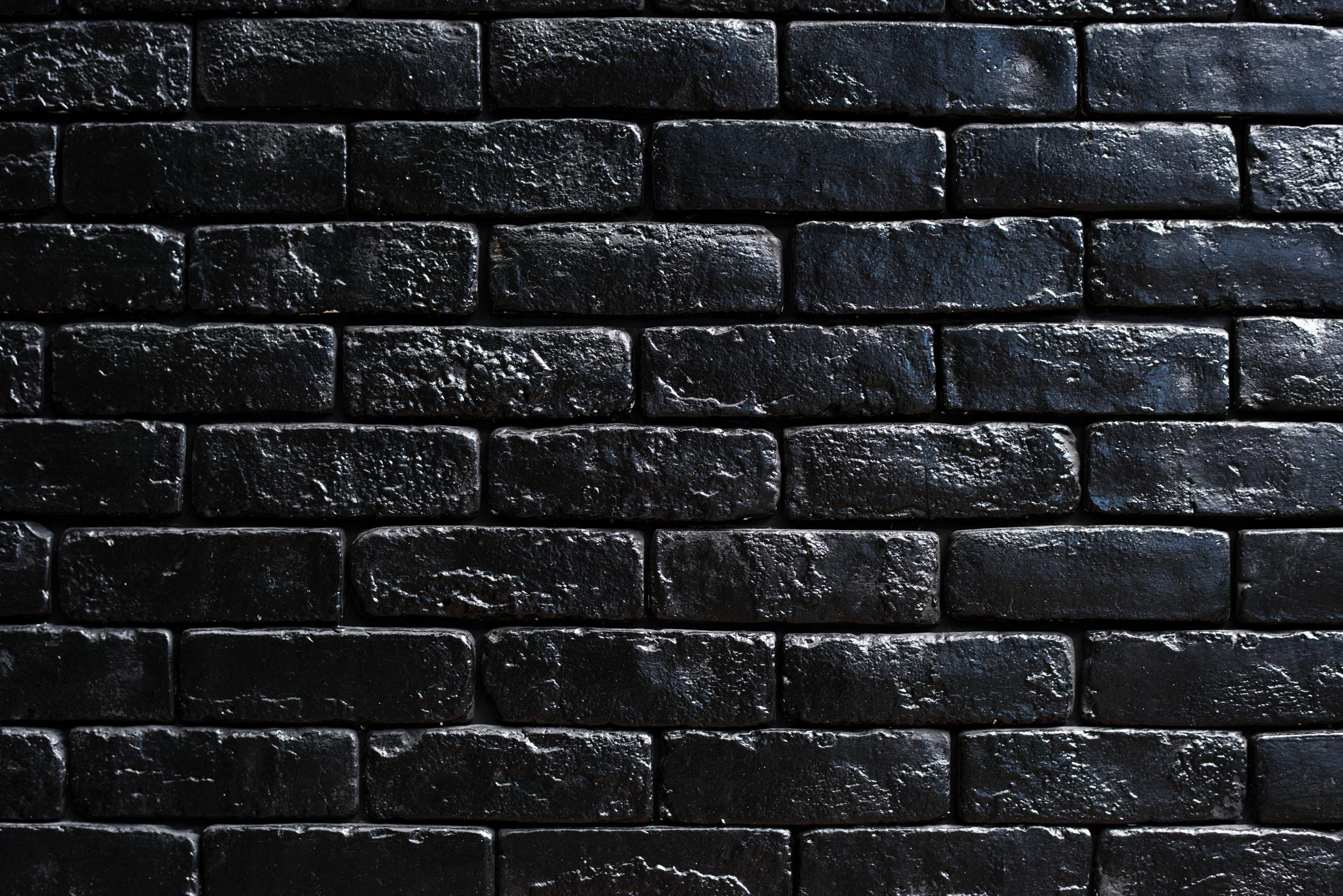 Black Brick Wall Wallpaper Wall Bricks Black Paint Hd Widescreen