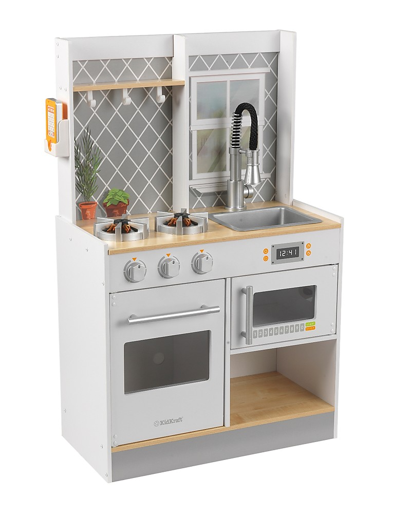 Cucina Bambini Kitchen Kidkraft Let S Cook Play Kitchen With Light And Sounds Wood