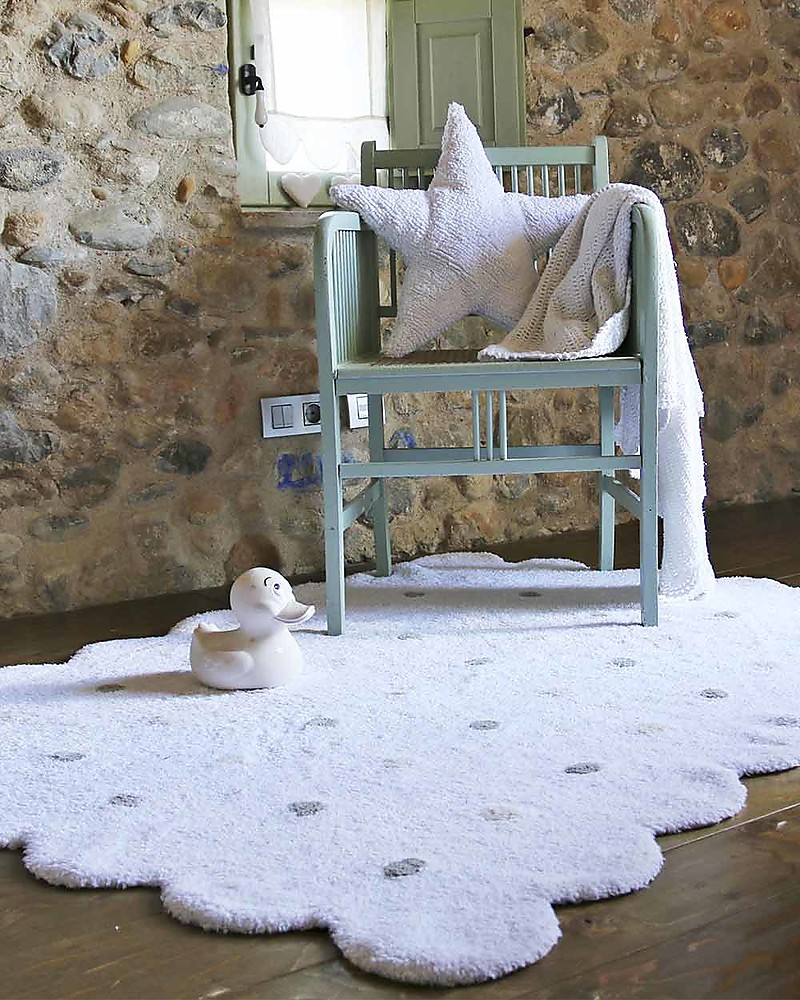 Tappeto Oeko Tex Lorena Canals Machine Washable Rug White Biscuit 100 Cotton 120