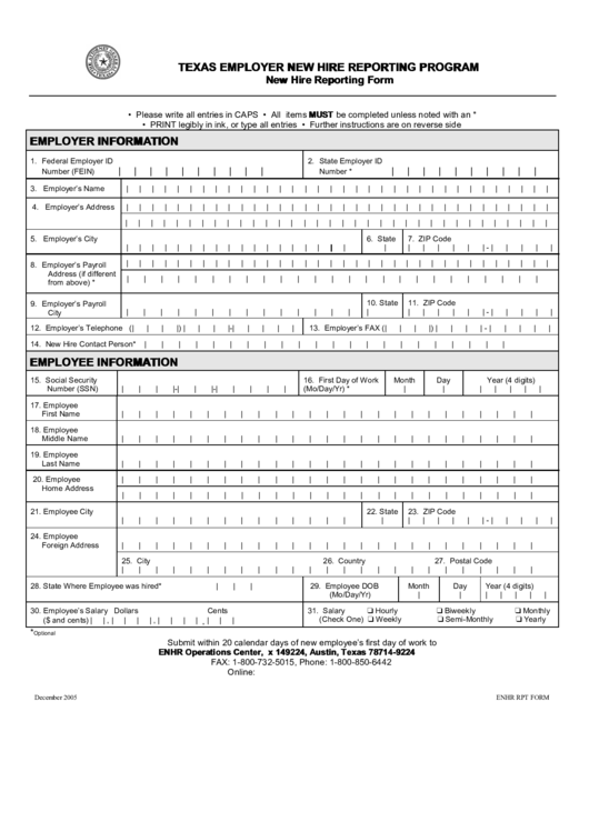 new hire template form