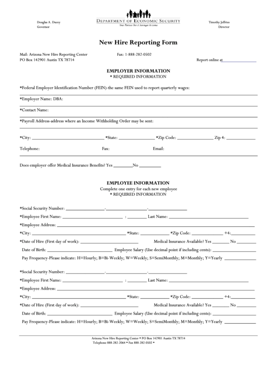 new hire employee information form