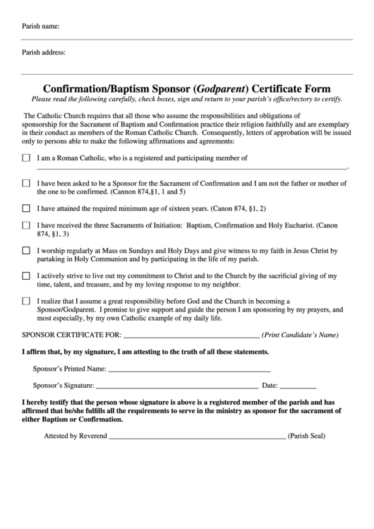 confirmation certificate templates