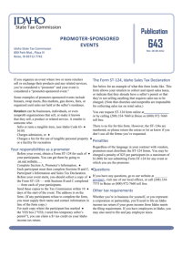 Form St-124 - Idaho Sales Tax Declaration Sample printable ...