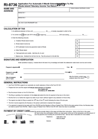 Form Ri-8736 - Application For Automatic 6 Month Extension ...