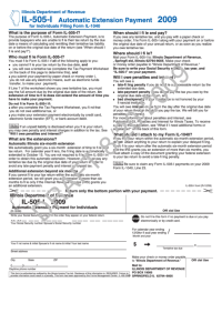 Form Il-505-I Draft - Automatic Extension Payment For ...