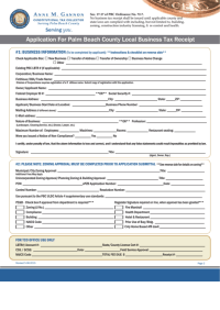 Fillable Application For Palm Beach County Local Business ...
