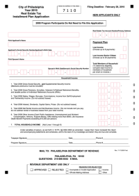 Real Estate Tax Installment Plan Application - City Of ...
