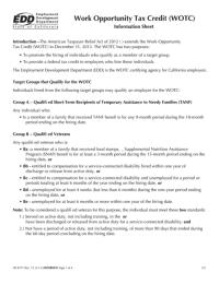 Form De 8721 - Work Opportunity Tax Credit (Wotc ...