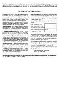 Top 5 Colorado Form 104 Templates free to download in PDF ...