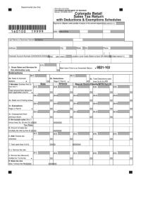 Fillable Form Dr 0100 - Colorado Retail Sales Tax Return ...