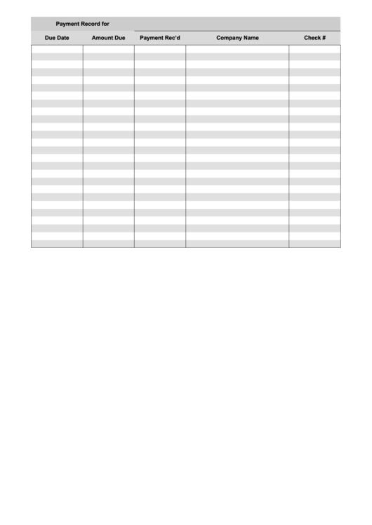 payment log sheet