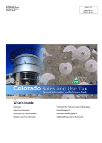 Form Dr 0099 - Colorado Sales And Use Tax Guide printable ...