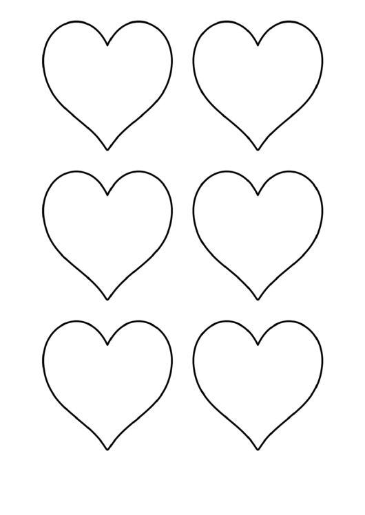 heart template small