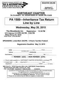 Pa 1500 Inheritance Tax Return Line By Line printable pdf ...
