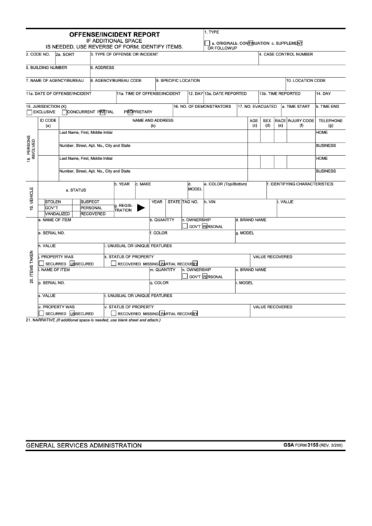 county sheriff office offense incident report