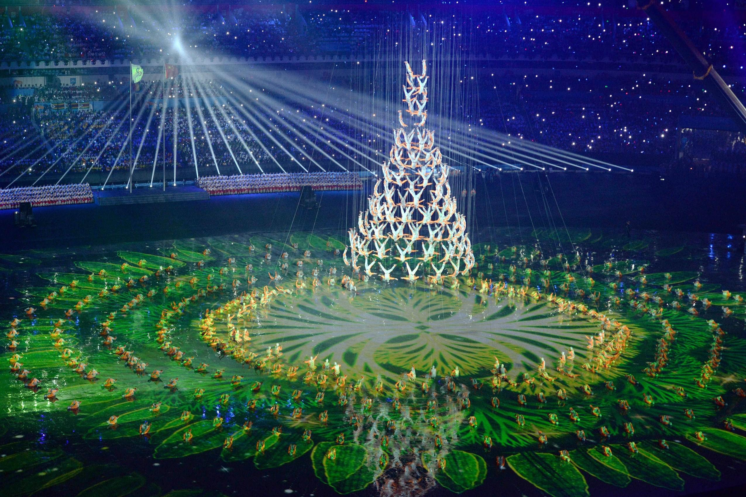 Happy Easter Wallpaper 3d Hd Asian Games Opening Ceremony 2014 Tree Man Wallpaper