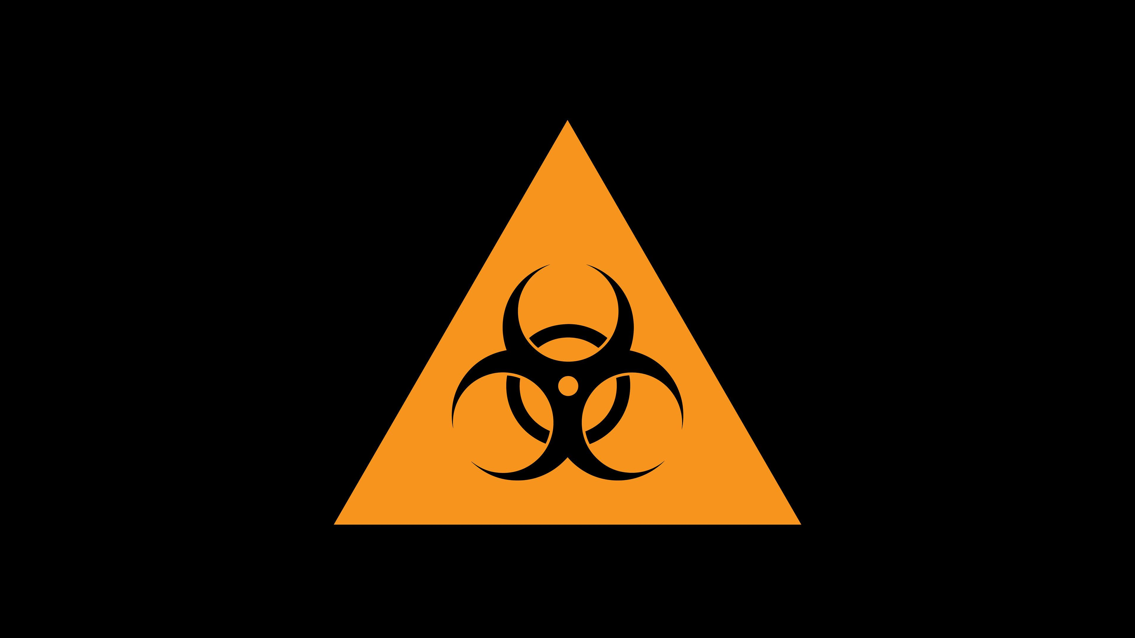 Good Night 3d Wallpapers Free Download Hd Biohazard Sign In A Triangle Wallpaper Download Free