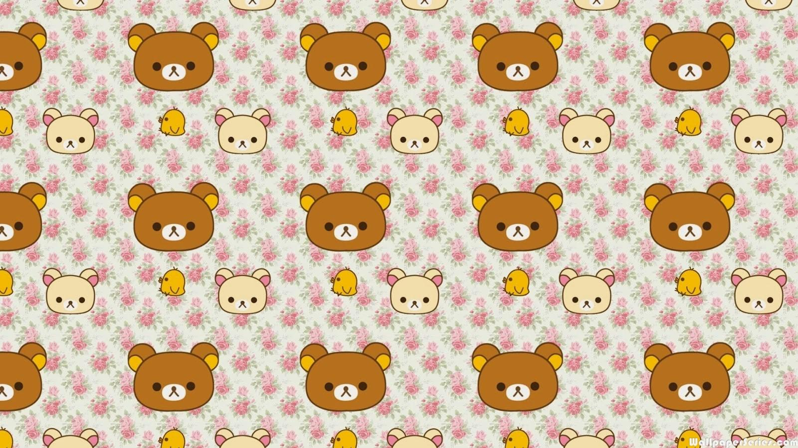 Wallpaper Cars Hd Cute Bear Rilakkuma Pattern Wallpaper Download Free