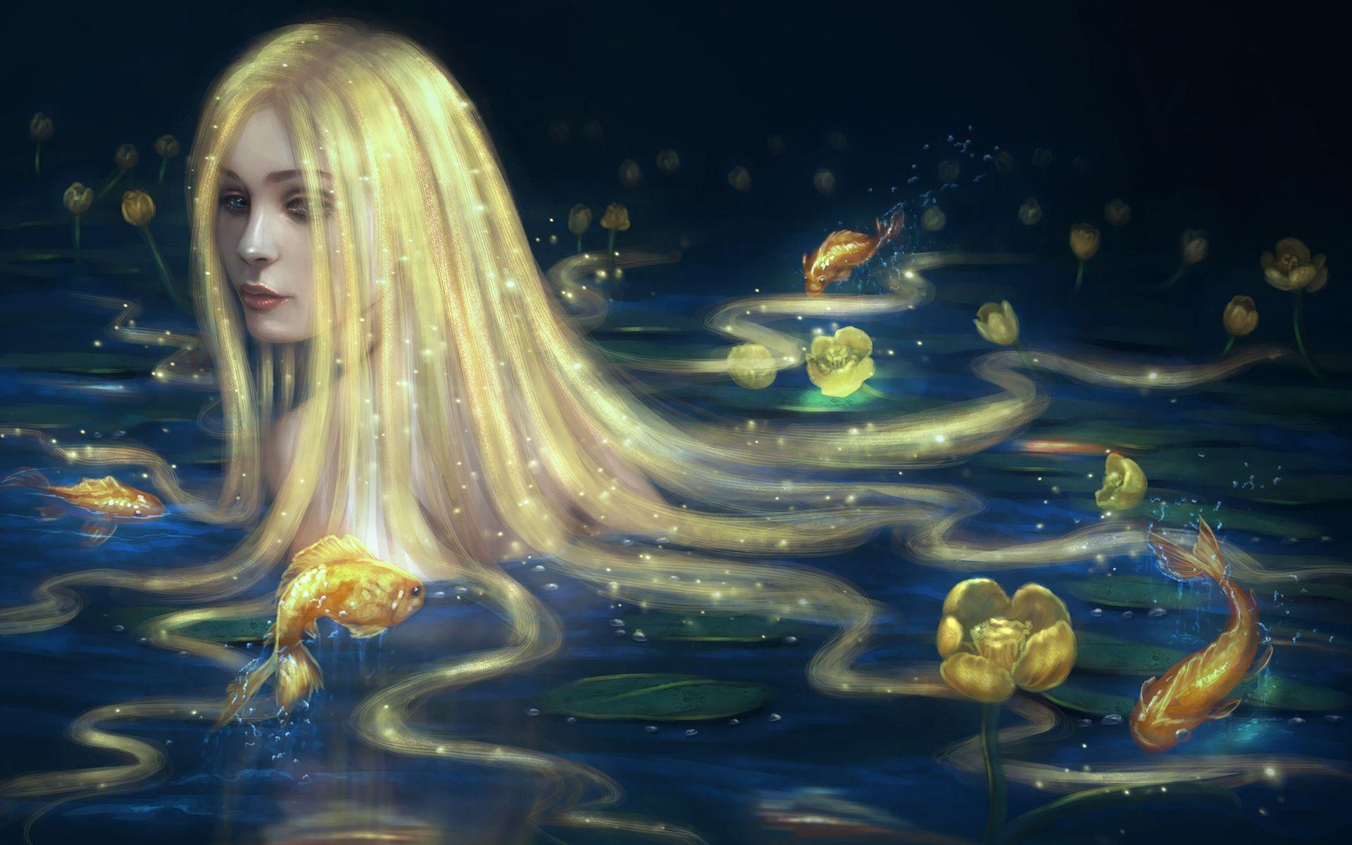 3d Moving Wallpaper For Pc Desktop Free Download Hd Girl With Golden Hair Taking A Bath Wallpaper
