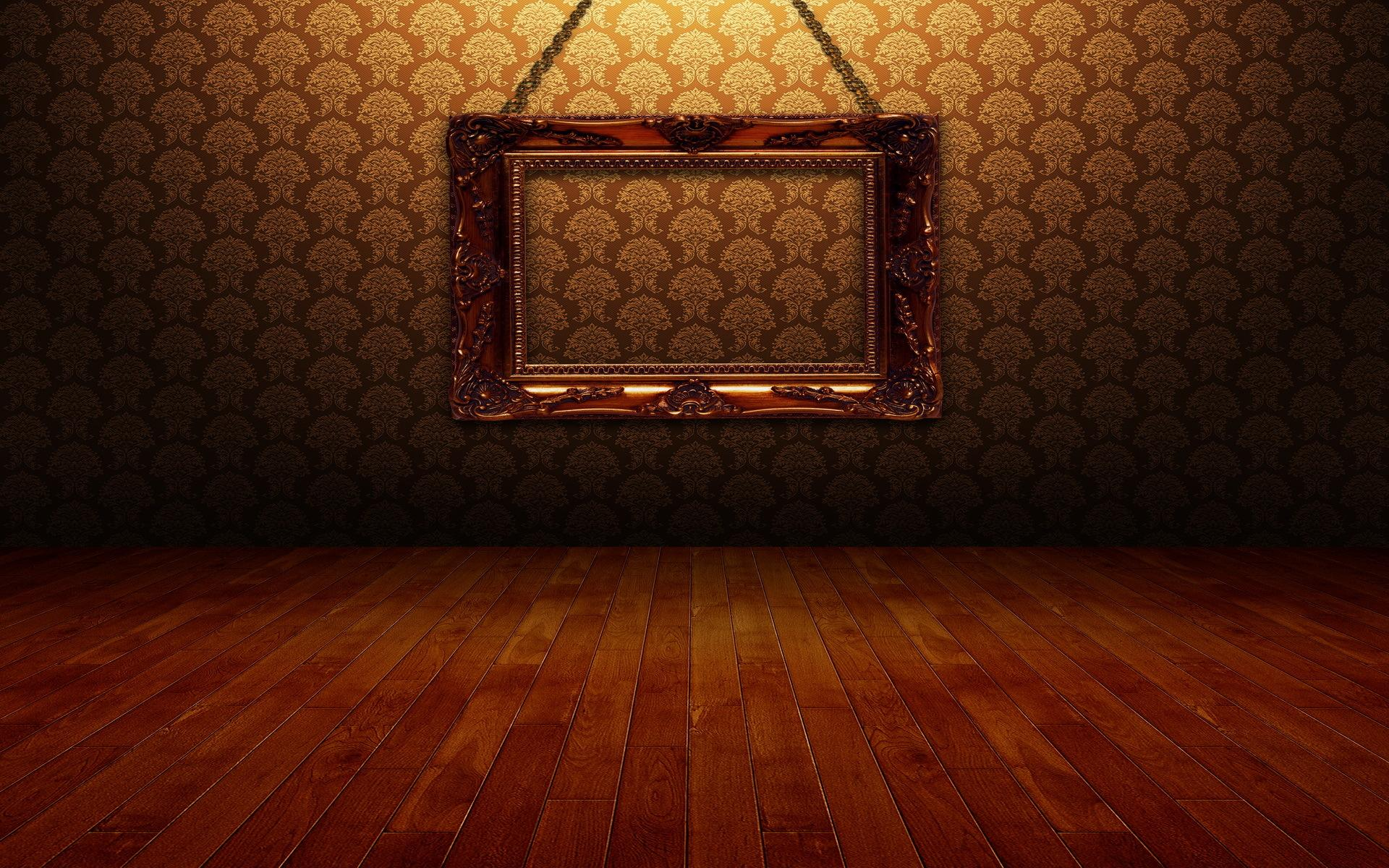 Pictures On The Wall Hd Golden Photo Frame On The Wall Wallpaper Download
