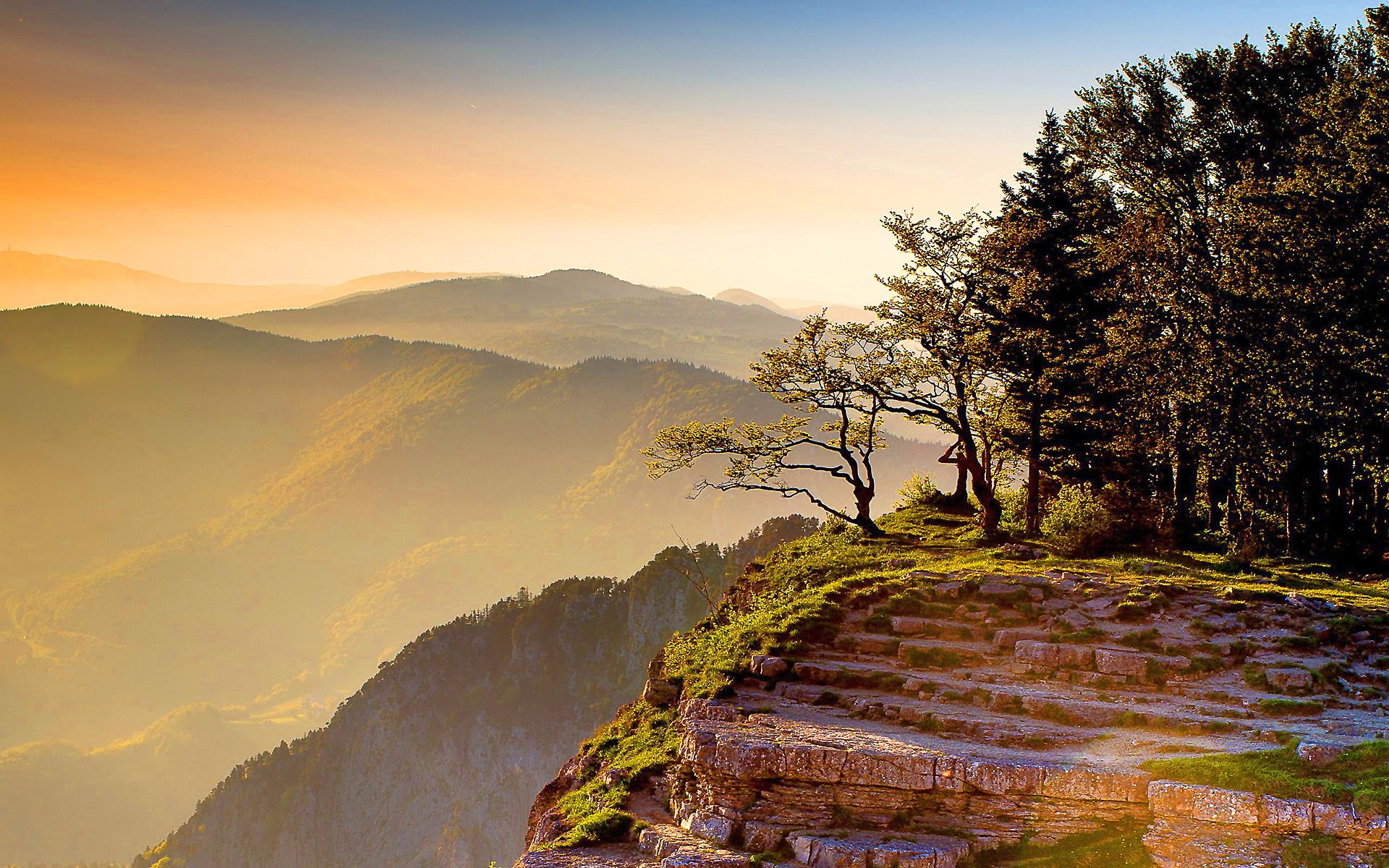 Disney 3d Wallpapers Free Hd Mountain Cliff Sunset Wallpaper Download Free 143782