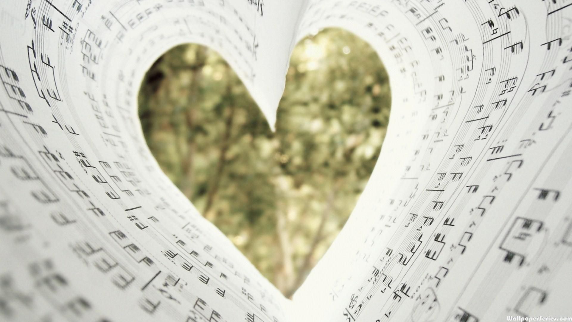 Animated Heart Wallpaper Hd Music Notes Heart Book Wallpaper Download Free 139154