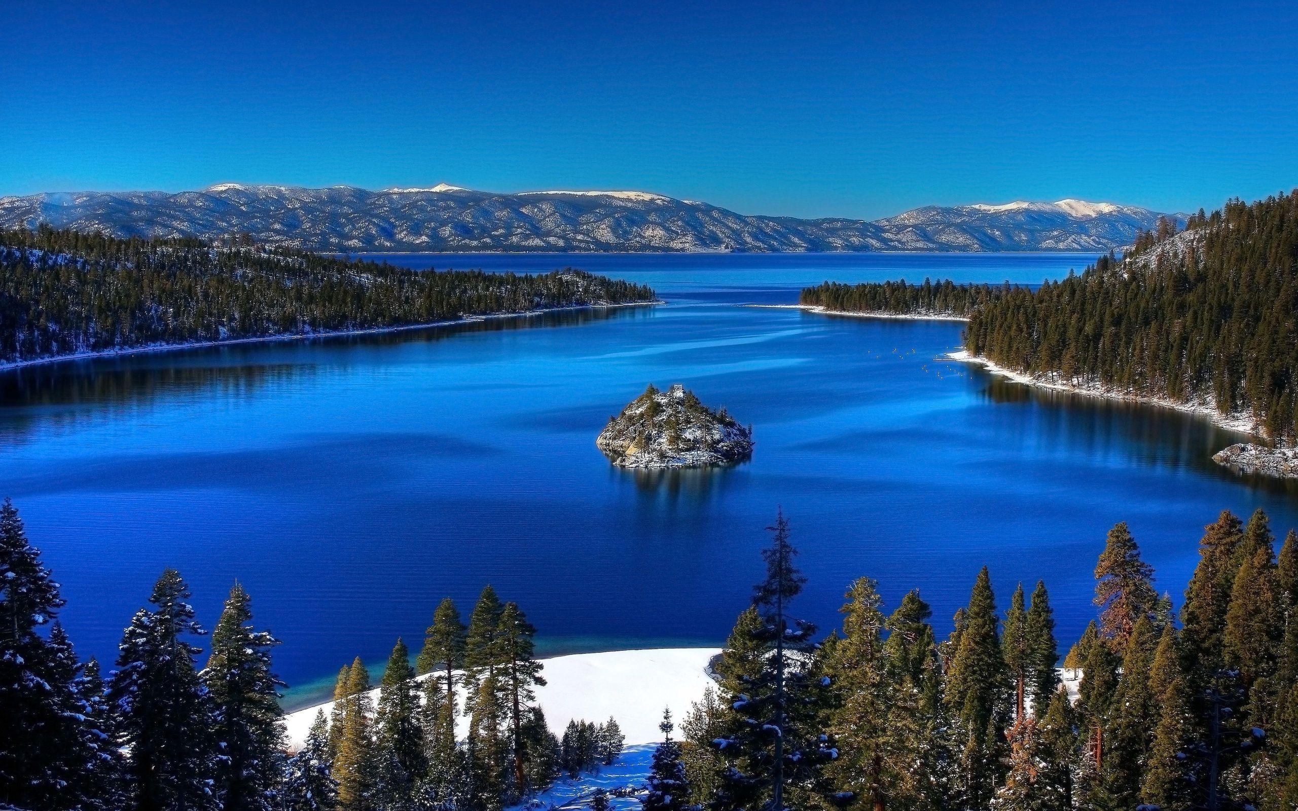 3d Moving Wallpaper For Pc Desktop Free Download Hd Small Island In The Blue Lake Wallpaper Download Free