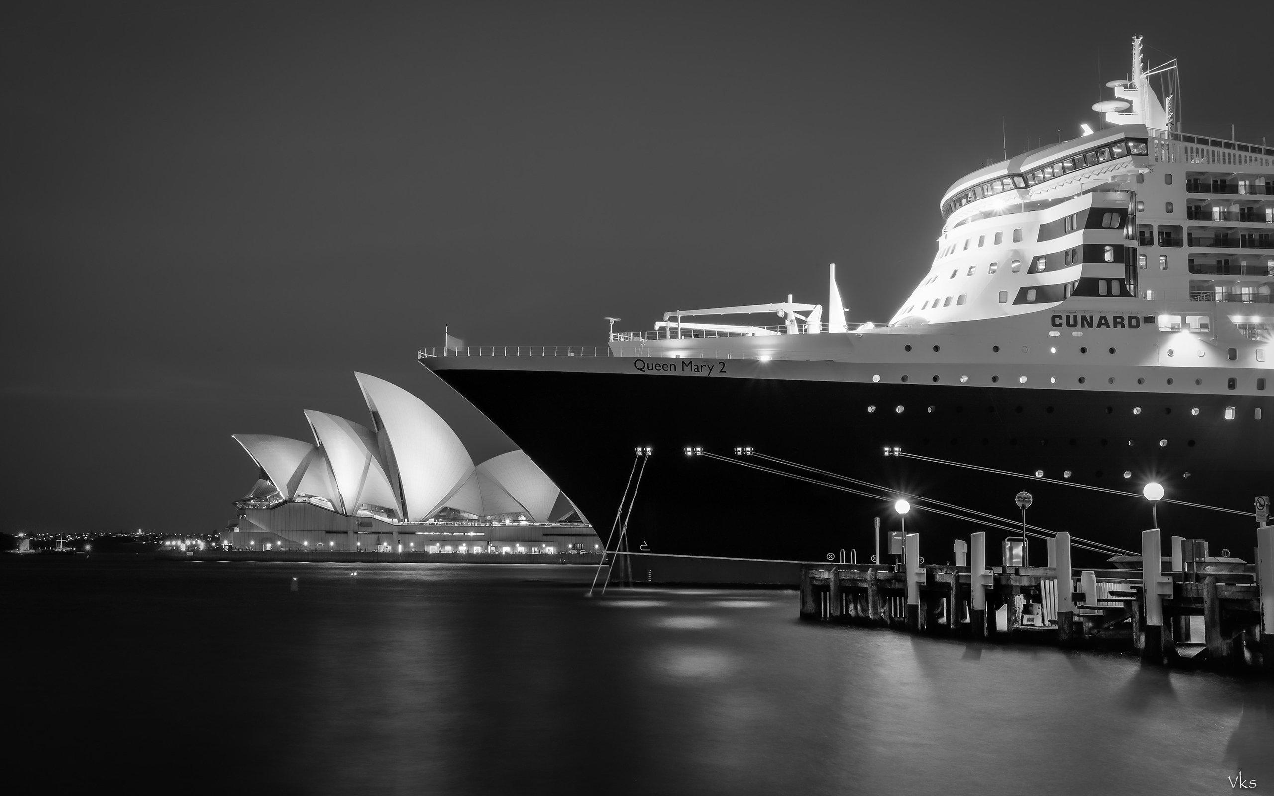Cute Small Baby Wallpapers Hd Hd Sydney Opera House Night Bw Ship Cruise Background