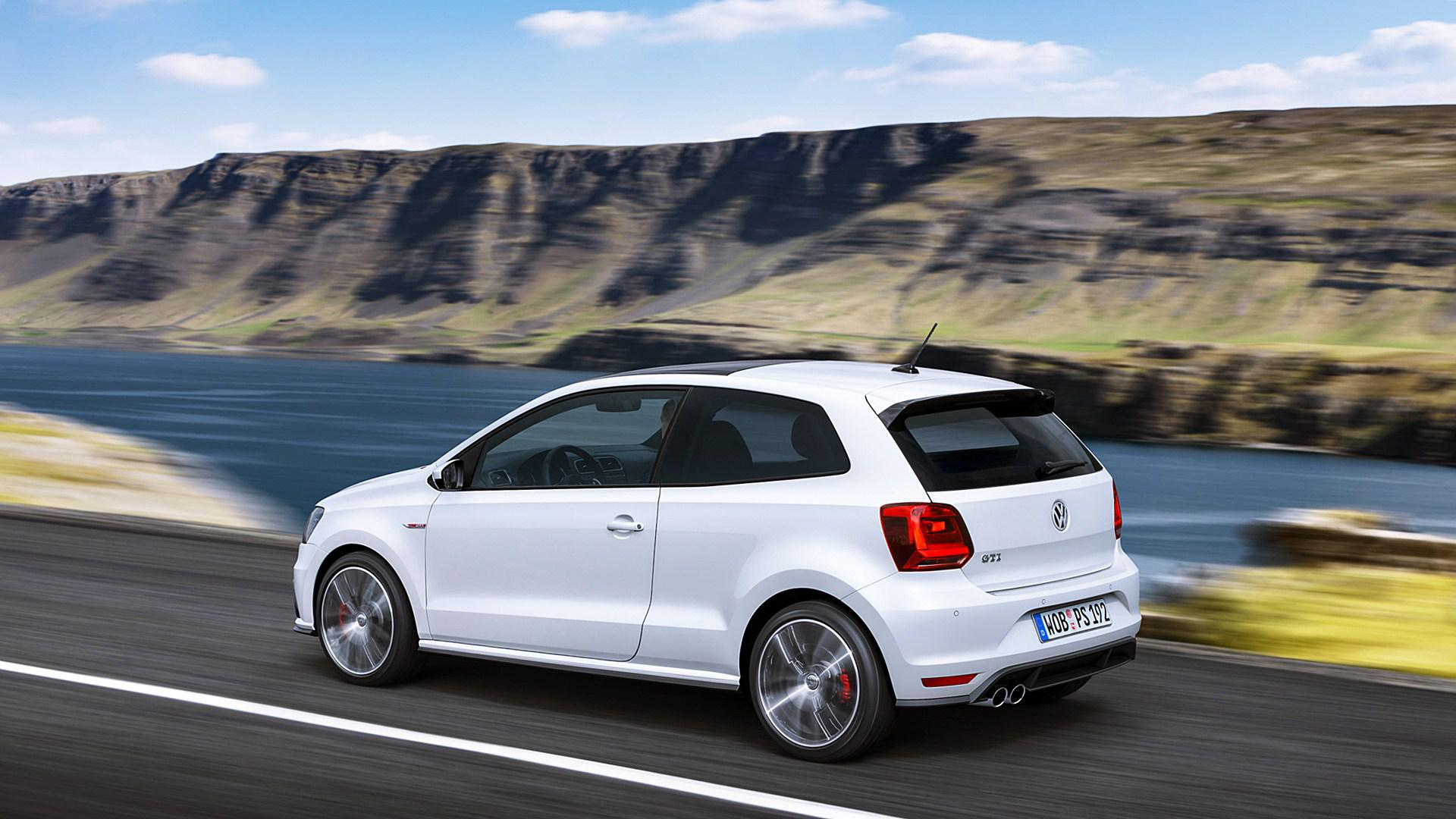 Cute Roses Wallpapers Download Hd Volkswagen Polo Gti White Back View Wallpaper