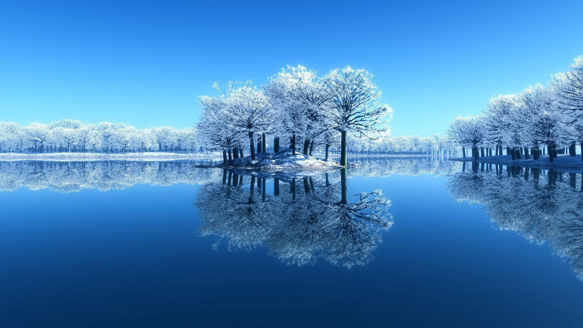 Hq 3d Wallpapers Free Download Hd Winter Water Reflection Wallpaper Download Free 139875