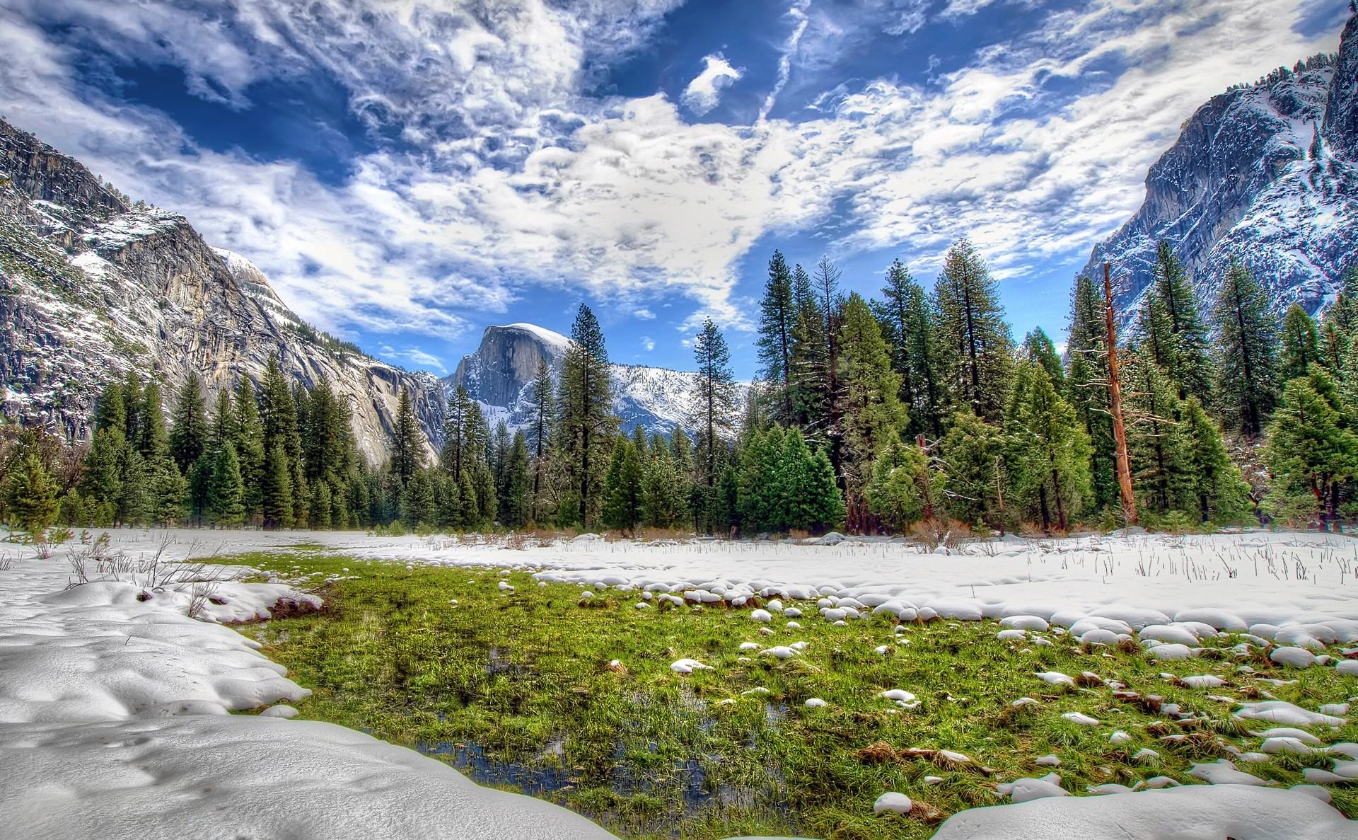 Animated Happy New Year D Hd Yosemite National Park California Sierra Nevada Hdr
