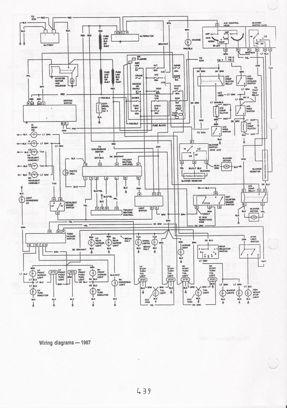 1987 caprice wiring diagrams