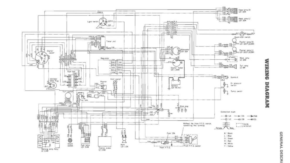Kubota G5200 Switch Wiring Diagram Kubota B2100 Wiring Diagram