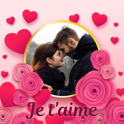 Montaje fotografico Rosas y corazones - Pixiz - rosas y corazones