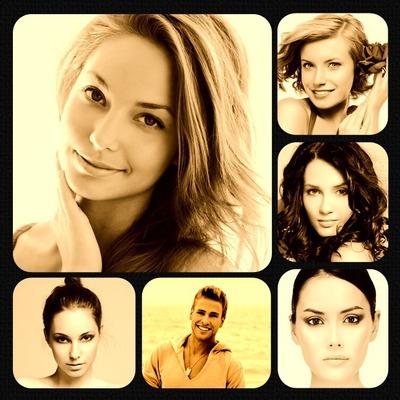Montaje fotografico Marco multifotos 6 fotos - Pixiz