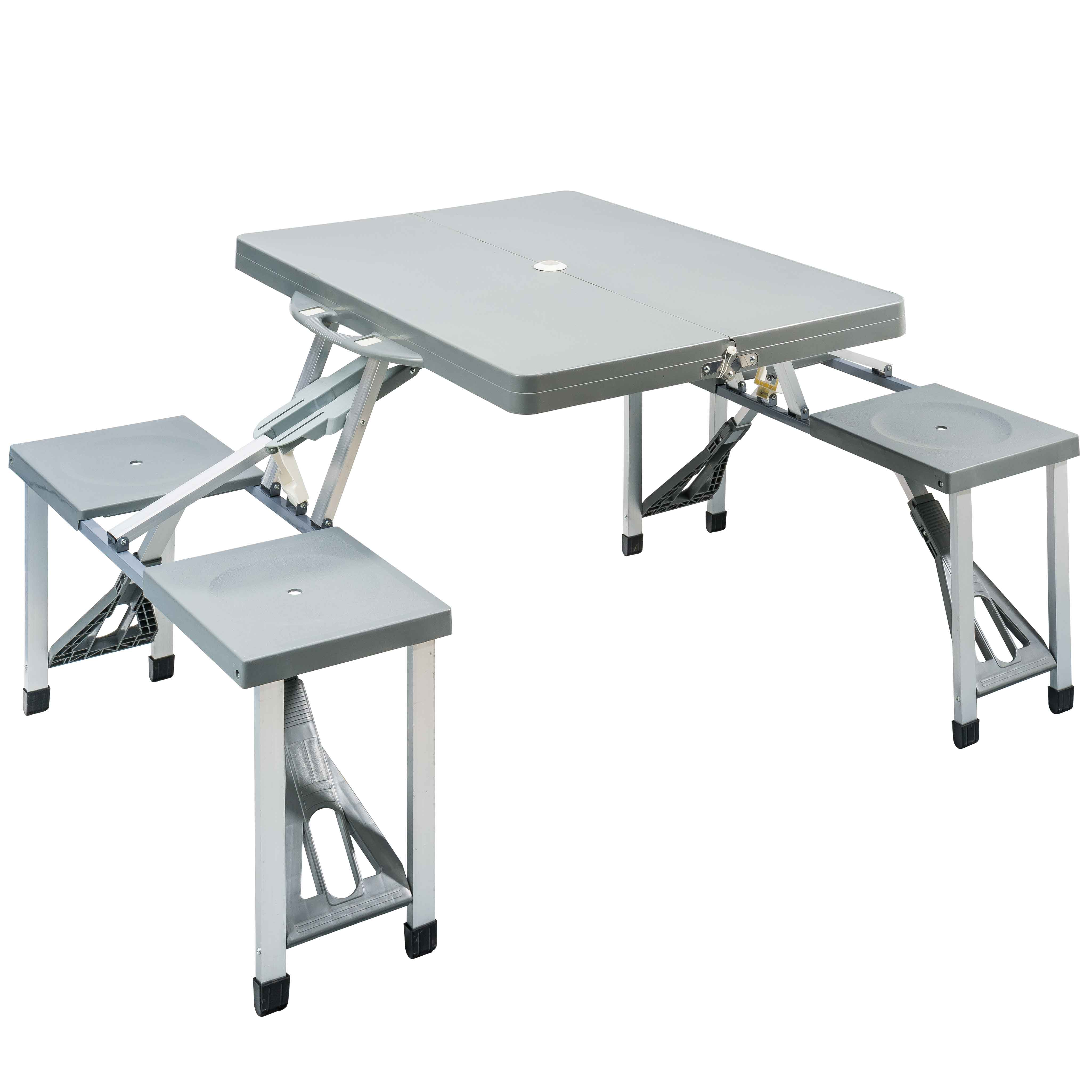 Table Aluminium Pliante Table Pliante Pieds En Aluminium 4 Places