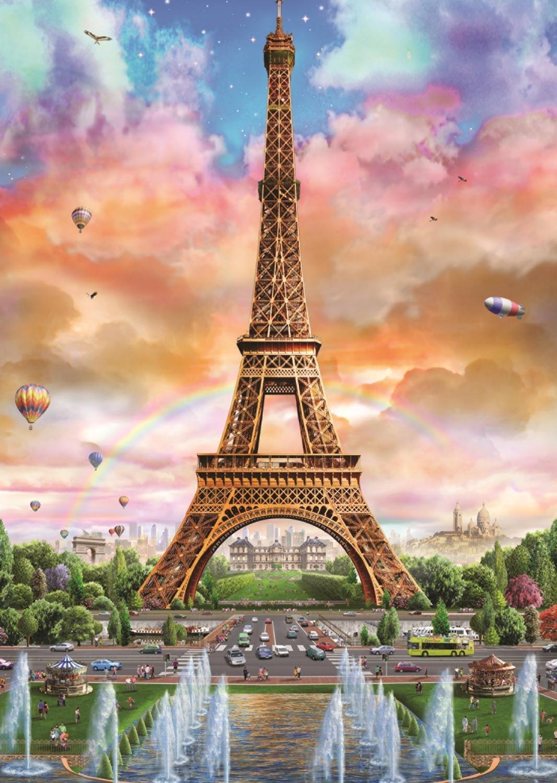 November Fall Wallpaper Eiffelturm Paris 500 Teile Jumbo Puzzle Online Kaufen