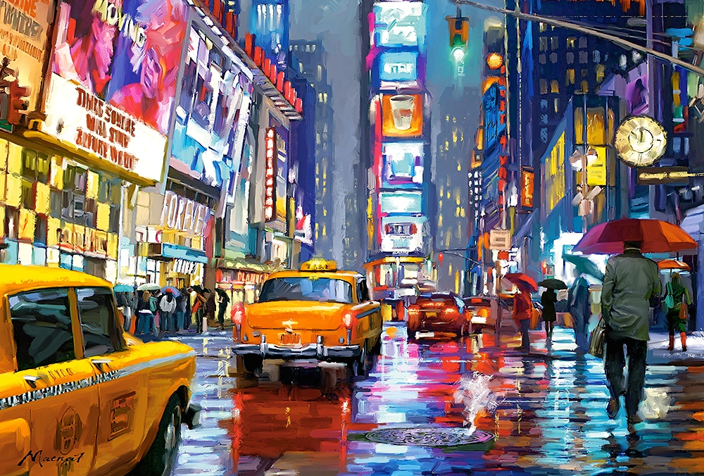 Shutterstock Hd Wallpapers Times Square New York 1000 Teile Castorland Puzzle