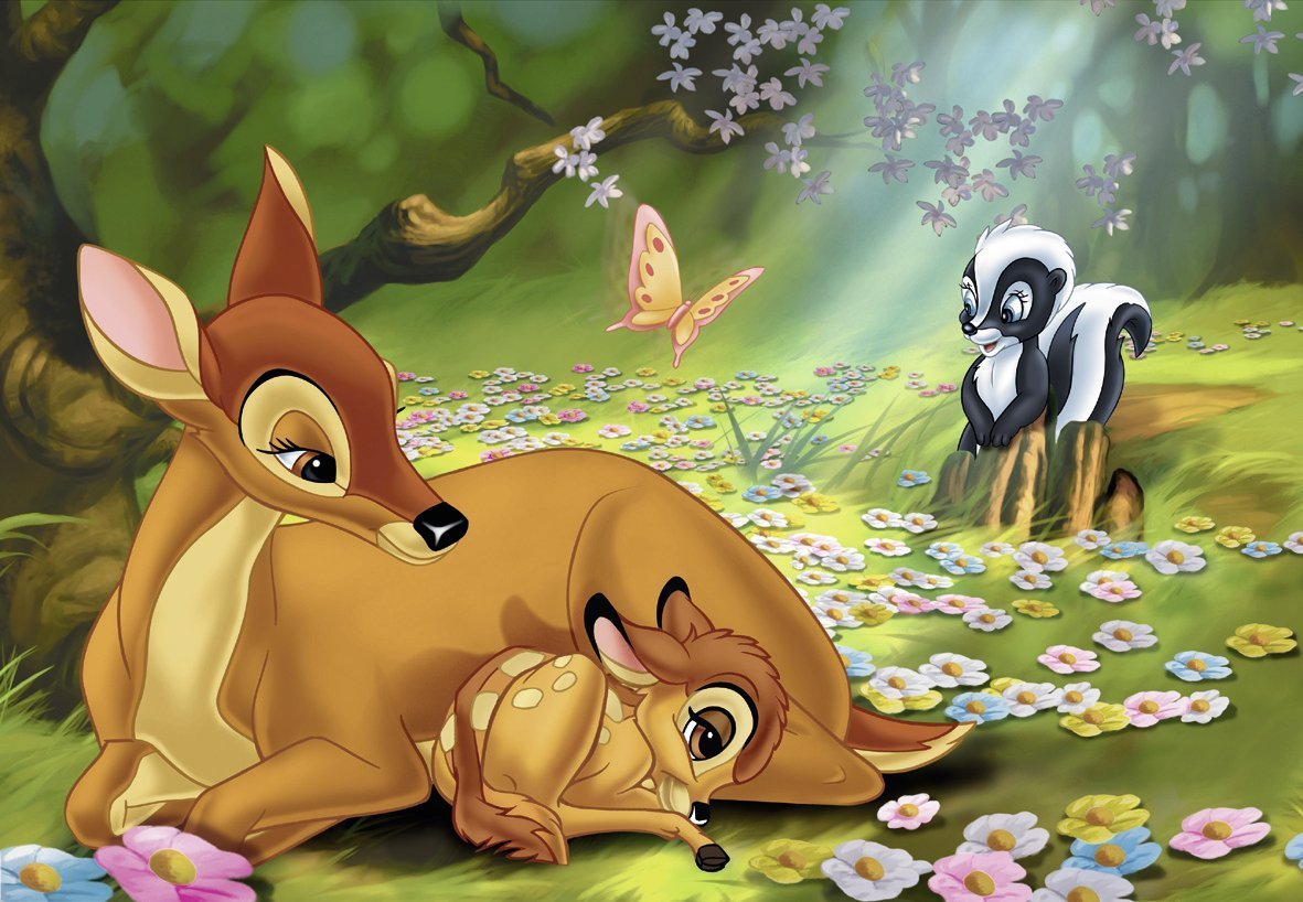 Fantasy Forest 3d Desktop Wallpaper Mein Freund Bambi Disney 2x24 Teile Puzzle Set