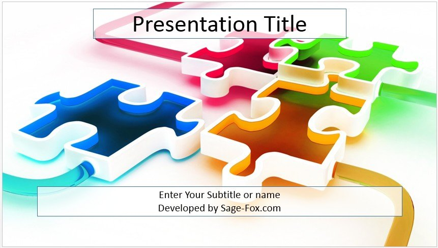 Free 3d puzzle PowerPoint Template #3790 SageFox PowerPoint Templates