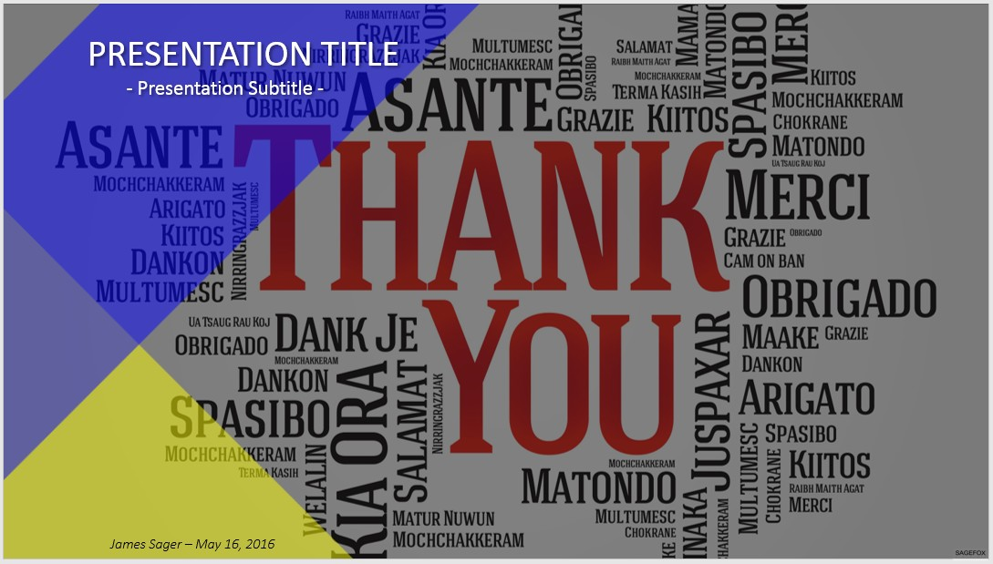 Free Thank You PowerPoint #38331 SageFox PowerPoint Templates