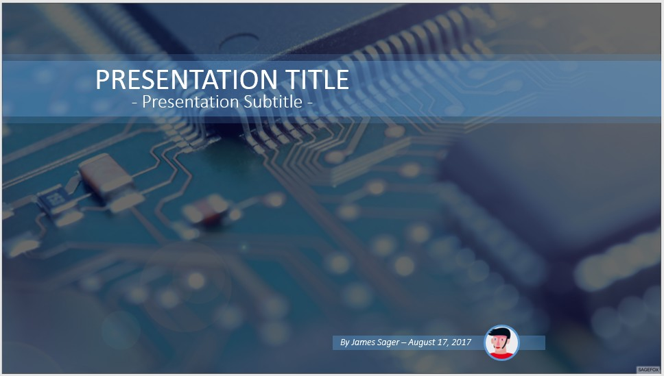 Free circuit board PowerPoint #54586 SageFox PowerPoint Templates
